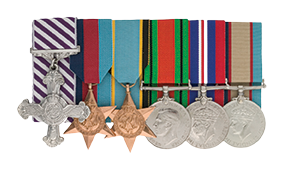 6 medals belonging to Flight Lieutenant EG Gentle, RAAF