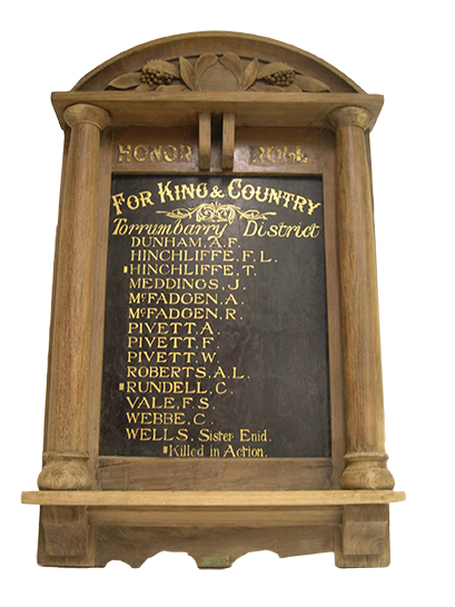 Honour board after restoration treatment