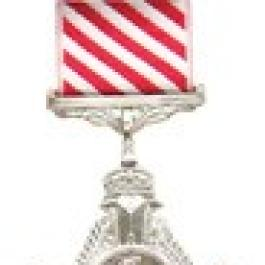 Air Force Cross (Medal/Award)—ribbon has think diagonal red and white stripes.